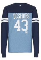 DC - Long Sleeve Number  Tee Mid Blue