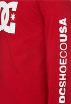DC - Long Sleeve Star Standard Tee Red