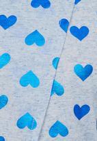 POP CANDY - Open Back Hearts Tee Blue