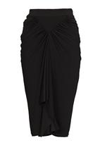 Gert-Johan Coetzee - Draped Diamond Skirt Black