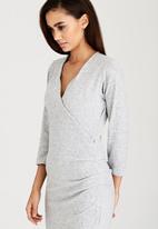 edit - Wrap-over Dress Grey Melange