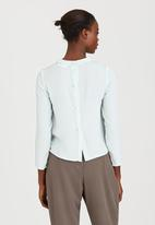 adam&eve; - Horton Shell Top with Back Buttons Light Green
