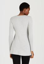 Cherry Melon - Smock Detail Long Sleeve Top Grey