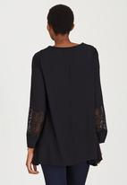 edit Maternity - Boho Sleeve Detail Blouse Black