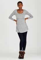 Cherry Melon - Long Sleeve Skater Top Grey