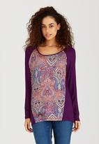 Bukamina - Paisley Printed Top Dark Purple