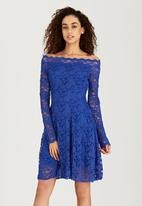 London Hub - Swing Lace Dress Blue