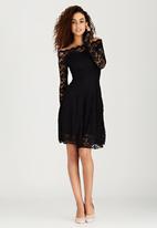 London Hub - Swing Lace Dress Black