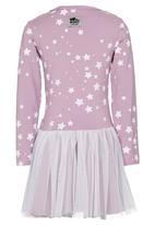 Just chillin - Stars Tutu Dress Mid Purple