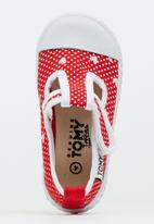TOMY - Infants Lace Less Canvas Red