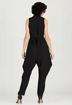 Leigh Schubert - Weeble Printed Wrap Jumpsuit Black and White