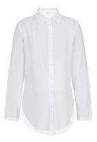 edit Maternity - Button Detail Shirt White