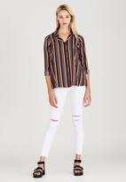 London Hub - Striped Split Back Shirt Multi-colour