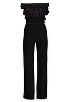 Gert-Johan Coetzee - Frilled Jumpsuit with Belt Black