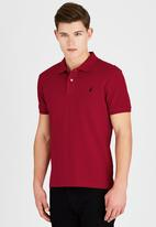 POLO - Short Sleeve Classic Pique Golfer Red