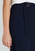 Somerset Jane - Diana Draped Trousers Navy