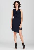 Somerset Jane - Frida Faux Wrap Dress Navy