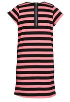 Rebel Republic - Shift Dress With Contract Pockets Mid Pink