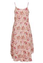 POP CANDY - Woven Viscose Printed Maxi Dress Multi-colour