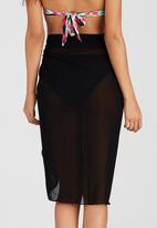Sun Things - Longer Length Wrap Skirt Black