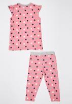 Soobe - Star Pyjamas Set Mid Pink