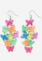 POP CANDY - Bright Butterfly Earrings Multi-colour