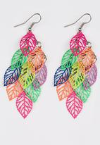 POP CANDY - Bright Leaves Earrings Multi-colour