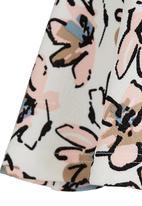 See-Saw - Metallic Elastic Skater Skirt Multi-colour