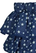 See-Saw - Tiered Skirt Mid Blue