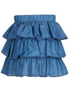 See-Saw - Tiered Skirt Pale Blue