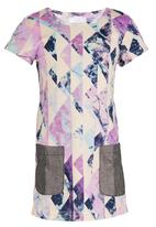 See-Saw - Shift Dress with Contrast Pockets Multi-colour