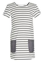 See-Saw - Shift Dress with Contract Pockets Black and White