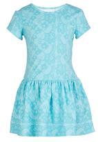 See-Saw - Drop Waist Dress Mid Blue