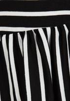 See-Saw - Drop Waist Dress Black and White
