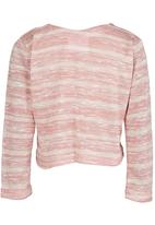 See-Saw - Cardigan with Bow Pale Pink