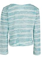 See-Saw - Cardigan with Bow Mid Blue
