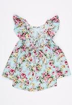 POP CANDY - Floral Dress Turquoise