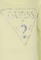 GUESS - Foil Triangle Tee Yellow