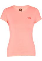 The North Face - Reaxtion Amp Crew Tee Coral