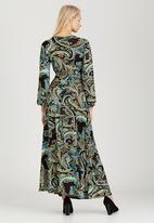 Jo Champ - Printed Maxi Wrap Dress Mid Green