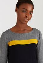 Jo Champ - Colourblock Dress Dark Grey