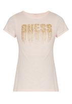 GUESS - High Low Logo Tee Pale Pink