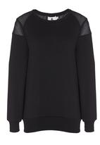 Rebel Republic - Lace Insert Sweater Black