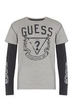 GUESS - 2 Fer Guess Crest Tee Grey
