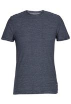 Brave Soul - Crew Neck Yarn Dyed T-Shirt Navy