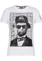 Brave Soul - Crew Neck Printed T-Shirt White