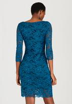 edit - Lined Lace Dress Turquoise