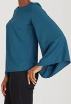 c(inch) - Bell Sleeve Blouse Turquoise