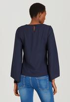 c(inch) - Bell Sleeve Blouse Navy