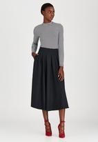 STYLE REPUBLIC - Longer Length Midi Skirt Dark Grey